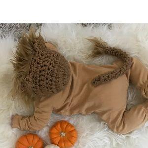 Halloween Baby lion bonnet set